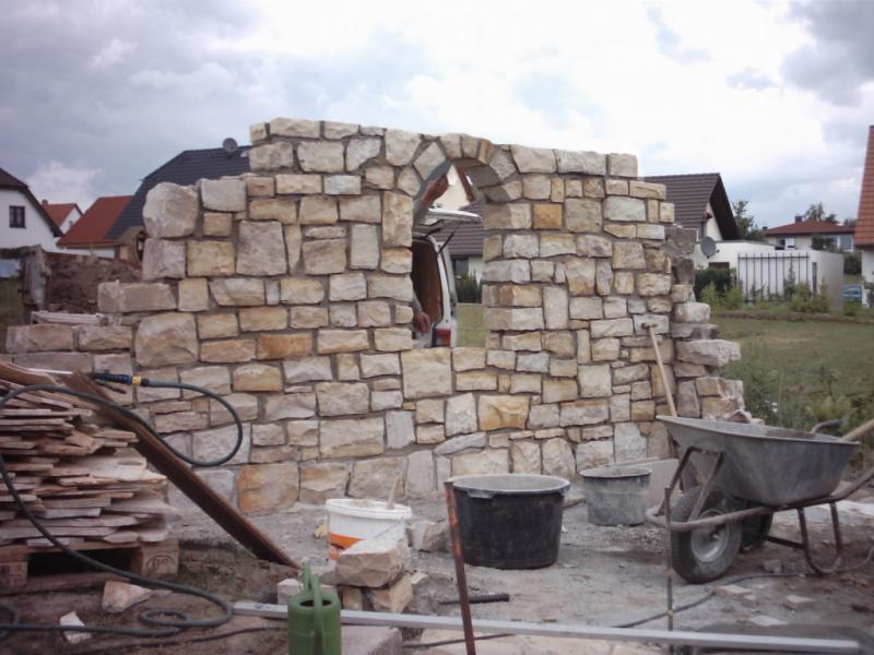 natursteinmauer freistehend sichtschutz die sch nsten einrichtungsideen. Black Bedroom Furniture Sets. Home Design Ideas